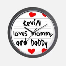 Kevin Loves Mommy and Daddy Wall Clock