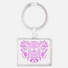 Day of the Dead Sugar Skull Landscape Keychain