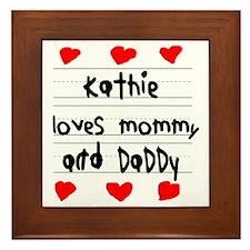 Kathie Loves Mommy and Daddy Framed Tile