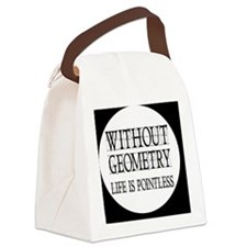 geometrybutton Canvas Lunch Bag
