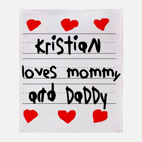 Kristian Loves Mommy and Daddy Throw Blanket