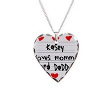 Kasey Loves Mommy and Daddy Necklace