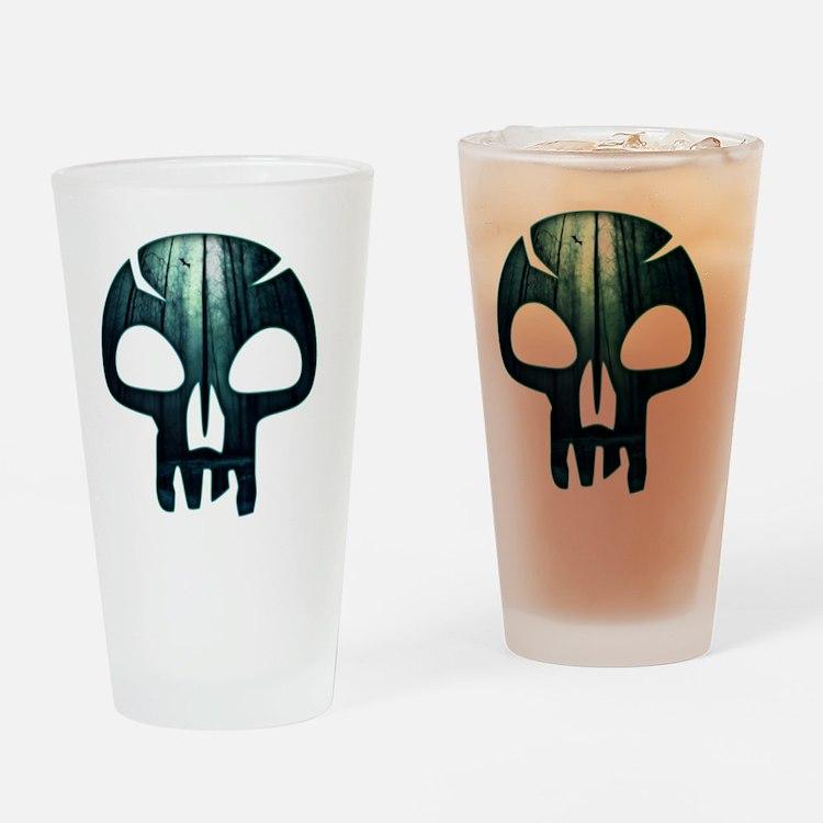Magic the Gathering Swamp Skull Drinking Glass