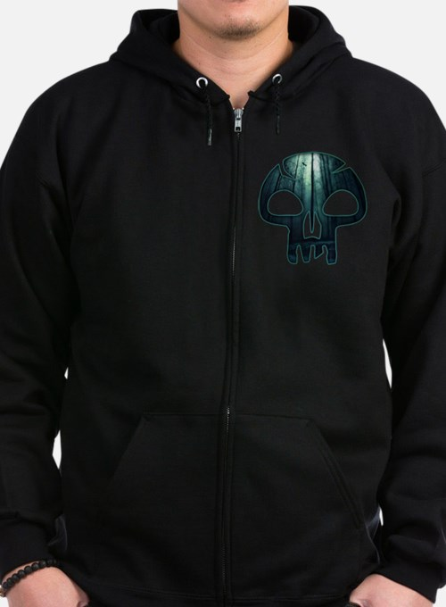 Magic the Gathering Swamp Skull Zip Hoodie