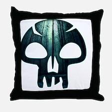 Magic the Gathering Swamp Skull Throw Pillow