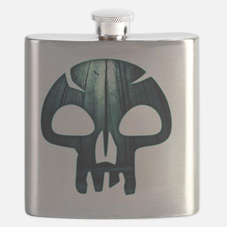 Magic the Gathering Swamp Skull Flask