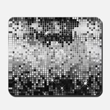 Disco Mirrors in Black and White Mousepad