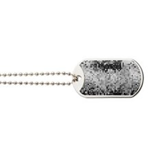 Disco Mirrors in Black and White Dog Tags