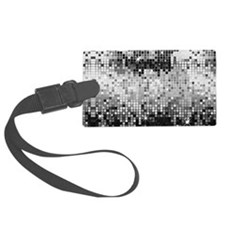 Disco Mirrors in Black and White Luggage Tag