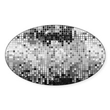 Disco Mirrors in Black and White Decal