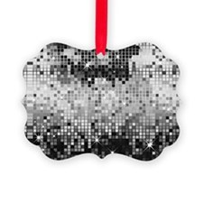 Disco Mirrors in Black and White Ornament