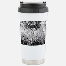 Disco Mirrors in Black  Travel Mug