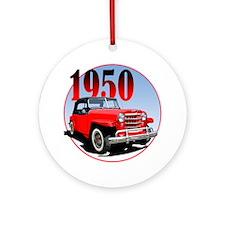 1950 Redjeepster Round Ornament