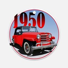 1950 Redjeepster Round Ornament