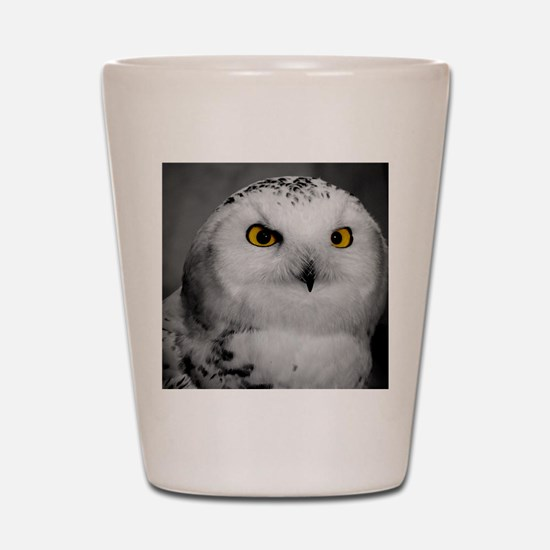 Snowy Owl Oscar Shot Glass
