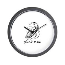 Surf Maui, Hawaii Wall Clock