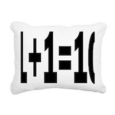 binaryrectangle Rectangular Canvas Pillow
