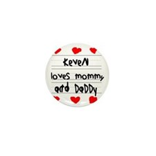Keven Loves Mommy and Daddy Mini Button