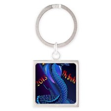 Year Of The Snake-lettered Square Keychain
