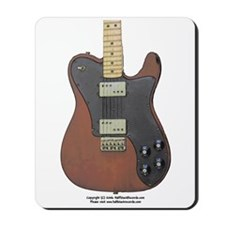 """Edged Black"" Guitar Mousepad"