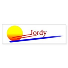 Jordy Bumper Car Sticker