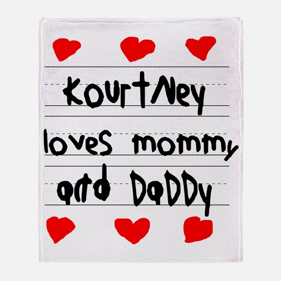 Kourtney Loves Mommy and Daddy Throw Blanket