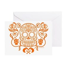 Day of the Dead Sugar Skull Greeting Card