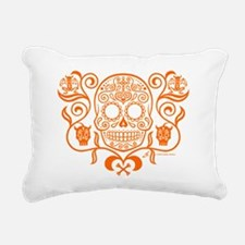 Day of the Dead Sugar Sk Rectangular Canvas Pillow