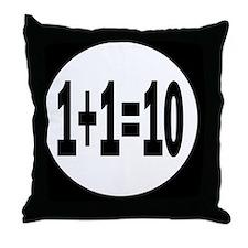 binarybutton Throw Pillow