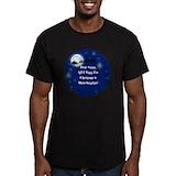 Beach christmas Fitted Dark T-Shirts