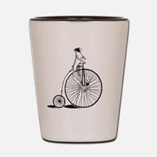 Dog on a bicycle Shot Glass