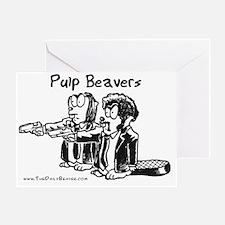 Pulp Beavers Greeting Card