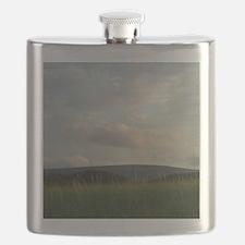 Peace At Dusk#3 Dingwall Cape Breton Island  Flask