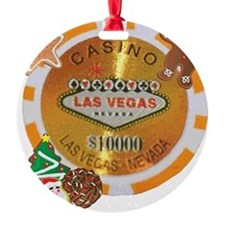 Christmas Poker Chip Ornament