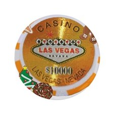 """Christmas Poker Chip 3.5"""" Button"""