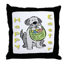 Happy Easter Dog Throw Pillow