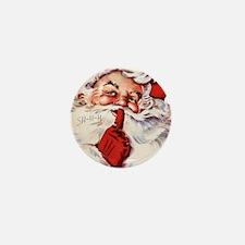 Vintage Santa Mini Button