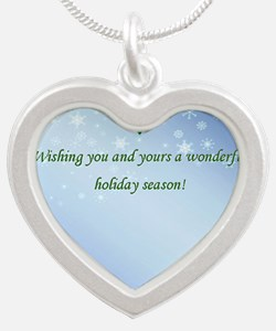 Inside Holiday Card with Tex Silver Heart Necklace