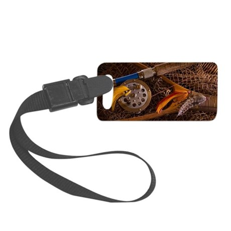 Fly fishing luggage tag by listing store 614800 for Fly fishing luggage