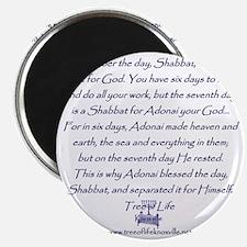 Tree of Life Shabbat commandment Magnet