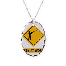 Skeet-Shooting-ABB1 Necklace Oval Charm