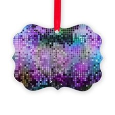 Disco Mirrors in Purple and Green Picture Ornament