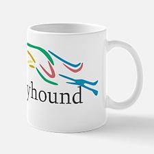 Drop Down Color Greyhound Mug