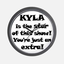 Kyla is the Star Wall Clock