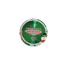 Christmas Poker Chip Mini Button