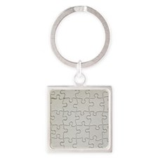 Puzzle Square Keychain