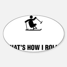 Adaptive-Skiing-ABG1 Sticker (Oval)