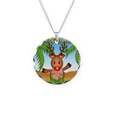 Mele Kalikimaka Deer Necklace