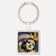 Reina Collage Square Keychain