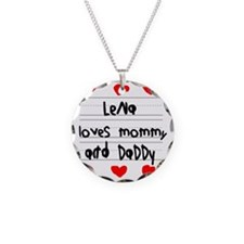 Lena Loves Mommy and Daddy Necklace